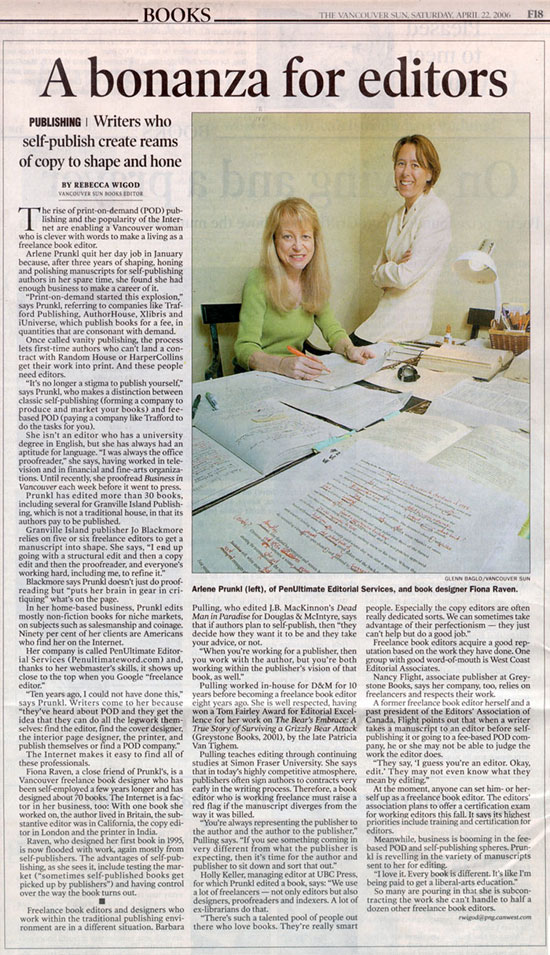 Newspaper article featuring Fiona Raven