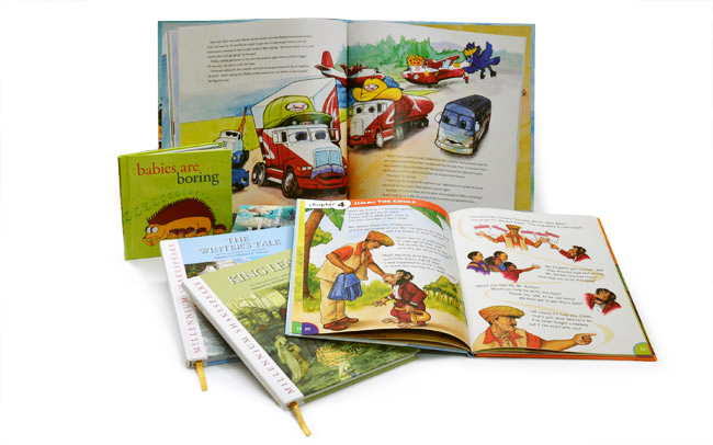 Book design for children's books, hardcover and softcover