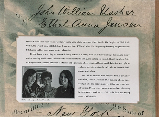 Family history book back cover